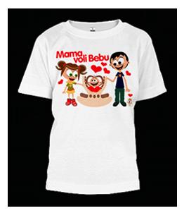 Mama voli bebu 1 - dečija majica